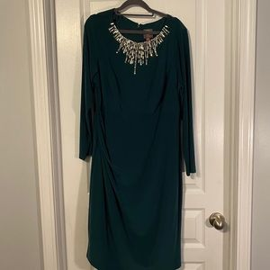 Green Vince Camuto Holiday Dress